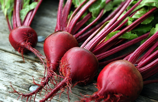 beets on the deck